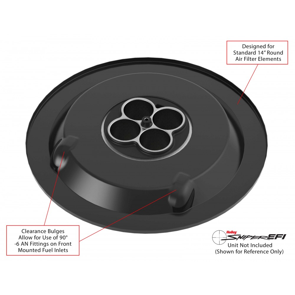 Drop Base Air Cleaner : Holley air cleaner drop base ships free at