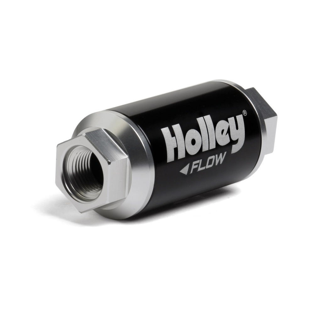 -10% 100 GPH HP Billet Fuel filter, 10 micron, 3/8 NPT