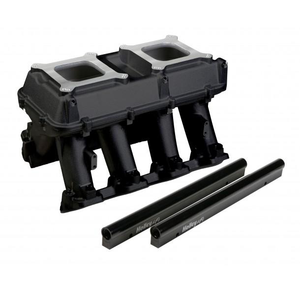 Hi-Ram Intake, GM LS3/L92, Twin Square Flange, Black