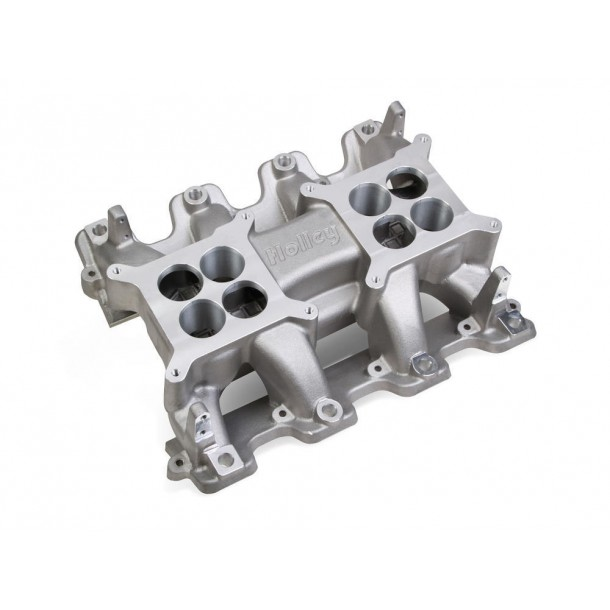 Mid-Rise Intake, GM LS3/L92, Twin Square Flange, Aluminum