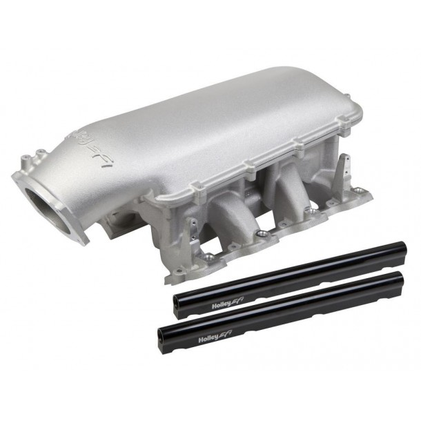 Mid-Rise Intake, GM LS1/LS2/LS6, 92mm Throttle Body Flange, Aluminum