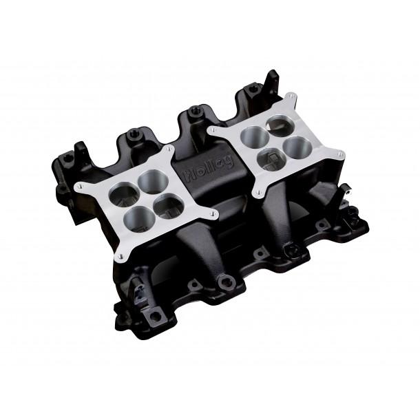 Mid-Rise Intake, GM LS3/L92, Twin Square Flange, Black