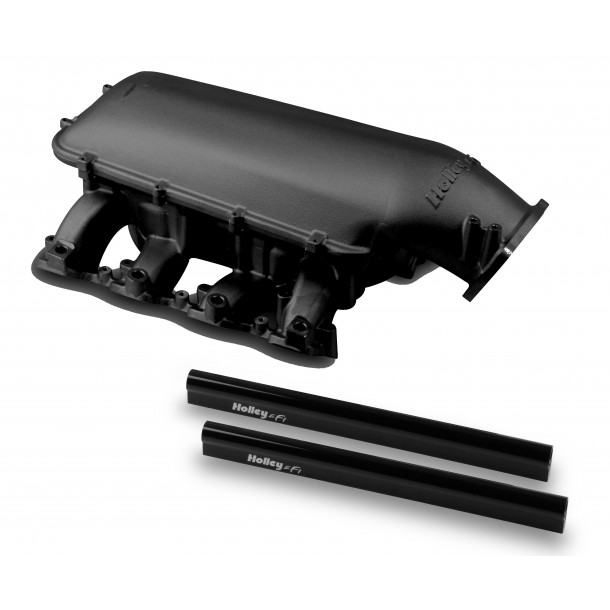 Mid-Rise Intake, GM LS3/L92, 92mm Throttle Body Flange, Black