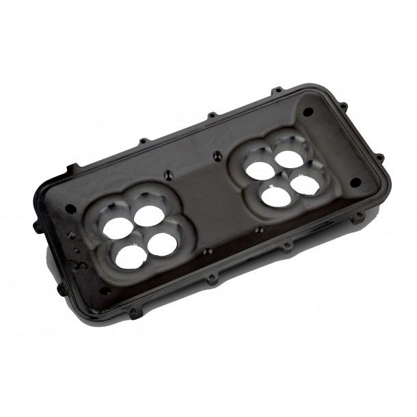 Mid-Rise Plenum Base Adapter Kit, GM LS1/LS2/LS6, Black