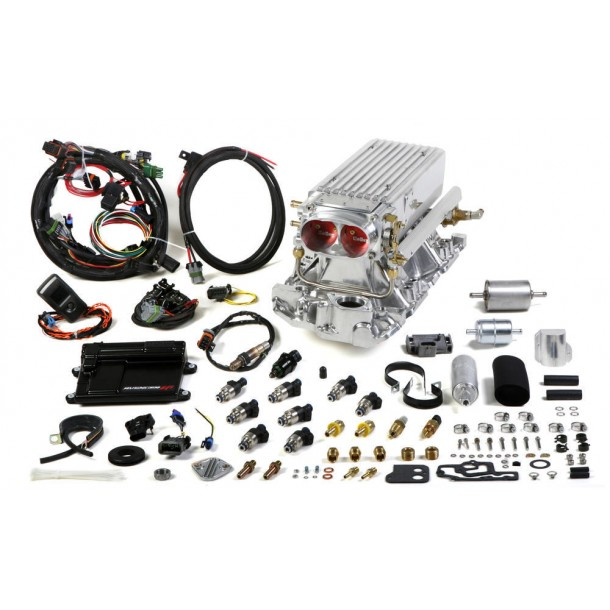 Avenger Stealth Ram EFI Kit, Small Block Chevy, Early to Late Heads, Polished