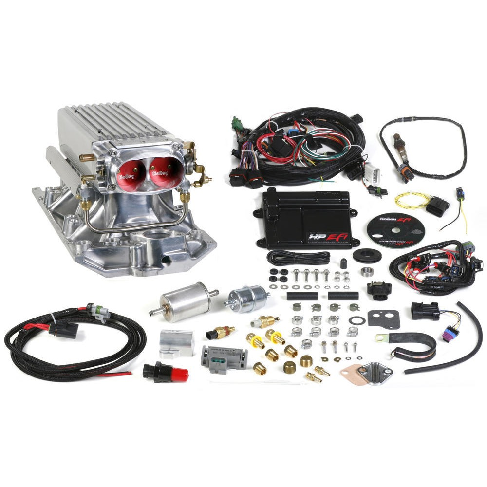 Holley 550 828 Hp Stealth Ram System Ships Free At Efisystempro 5 3 Vortec Crate Engine With Wiring Harness Fuel Injection Small Block Chevy Heads