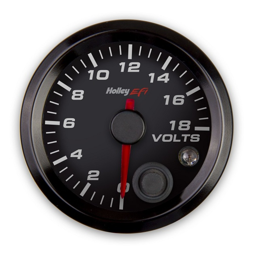 Holley 553 126 Voltage Gauge Ships Free At Efisystempro