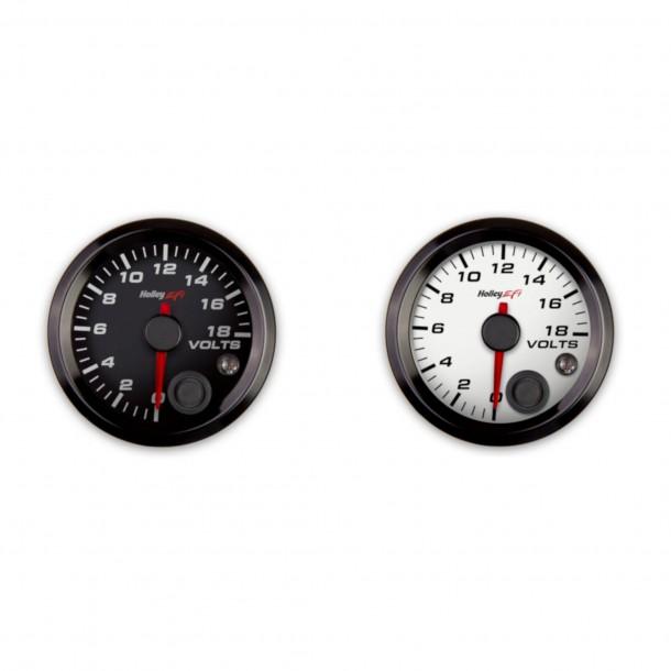 2-1/16 Inch Voltage Gauge, 0-18V, Analog Display
