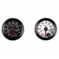 30InHg//30 PSI Analog Style Series 2-1//16 Vacuum//Boost Gauge Holley 26-606W White