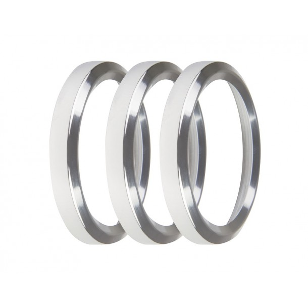 2-1/16 Inch Bezels, Silver, Pack of 3