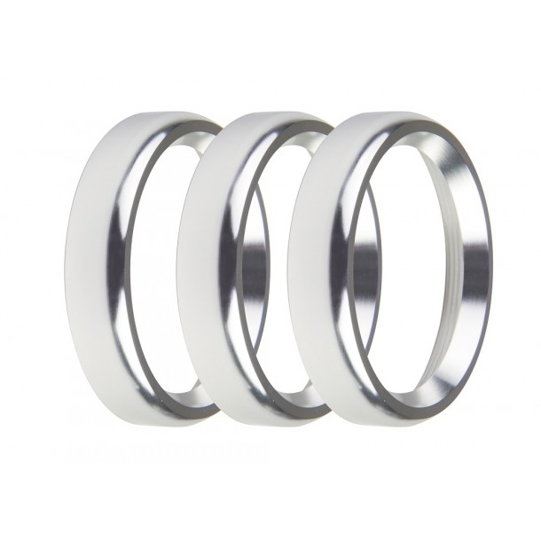 2-1/16 Inch Bezels, Silver, Bold, Pack of 3