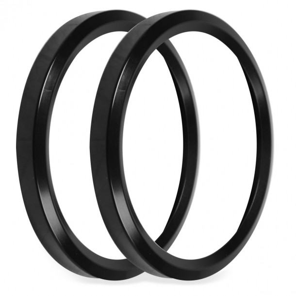 3-3/8 Inch Bezels, Black, Pack of 2
