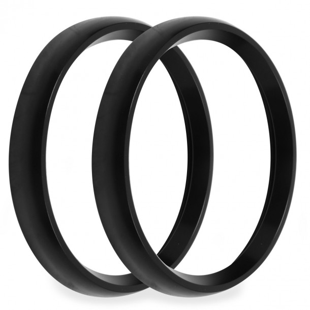 4-1/2 Inch Bezels, Black, Bold, Pack of 2