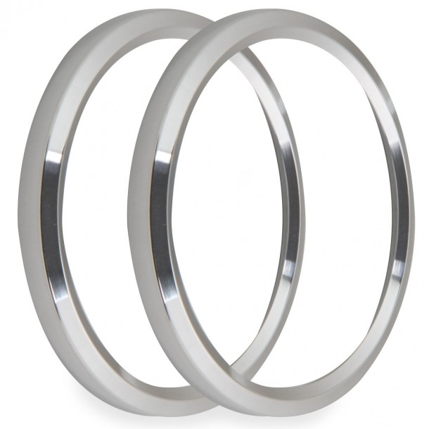 4-1/2 Inch Bezels, Silver, Pack of 2