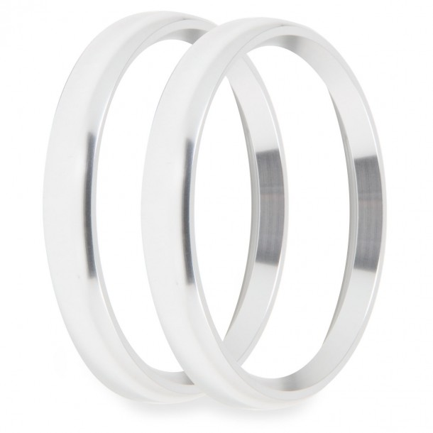 4-1/2 Inch Bezels, Silver, Bold, Pack of 2