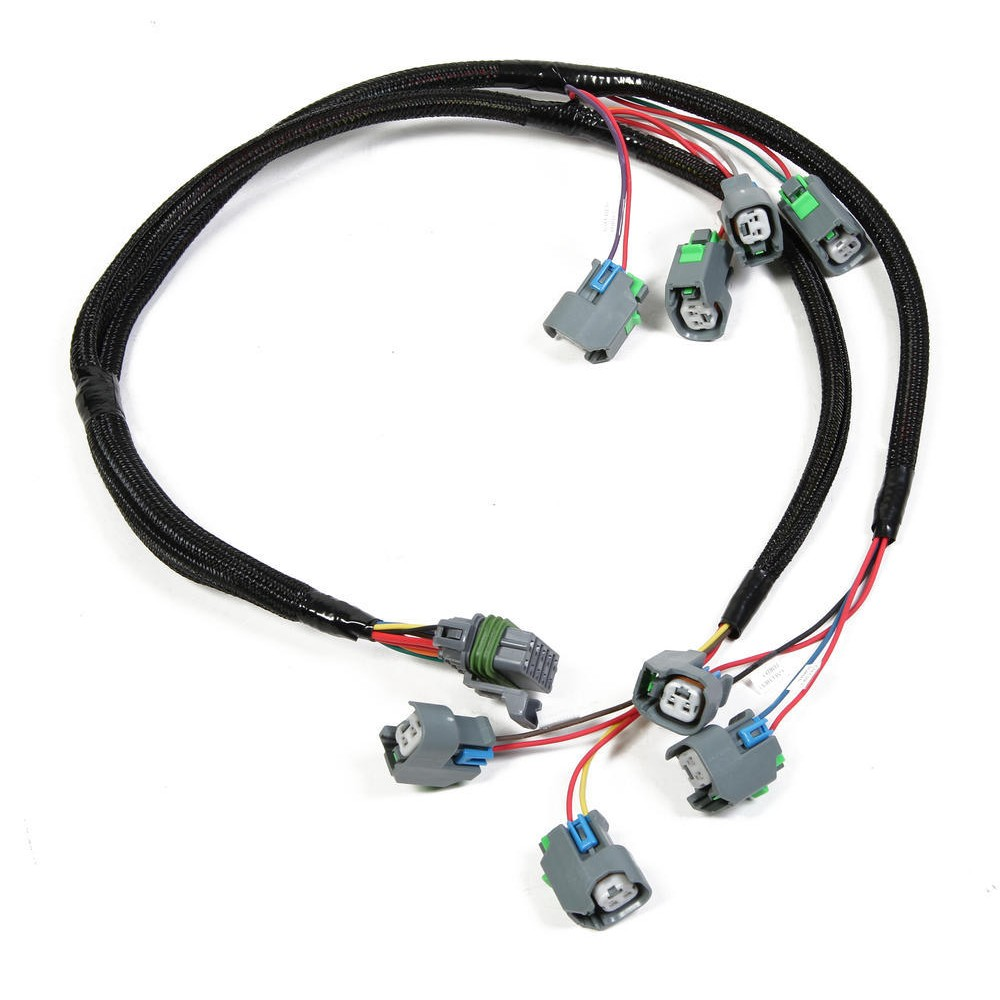 Holley 558 201 Injector Harness Ships Free At Oe Wiring 10 Lsx With Ev6 Uscar Style Connectors
