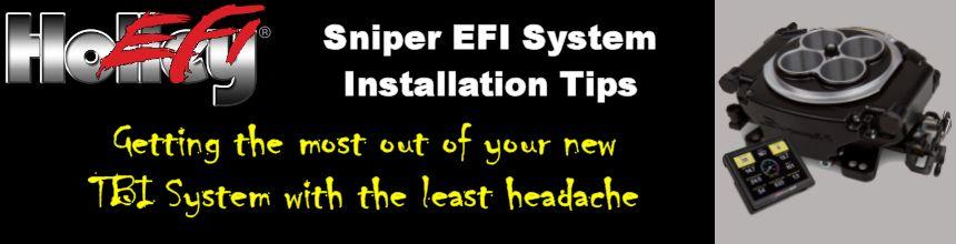 Holley Sniper EFI Installation Tips