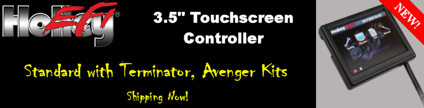 Terminator, Avenger Kits Ship With 3.5 Inch Touchscreen Display