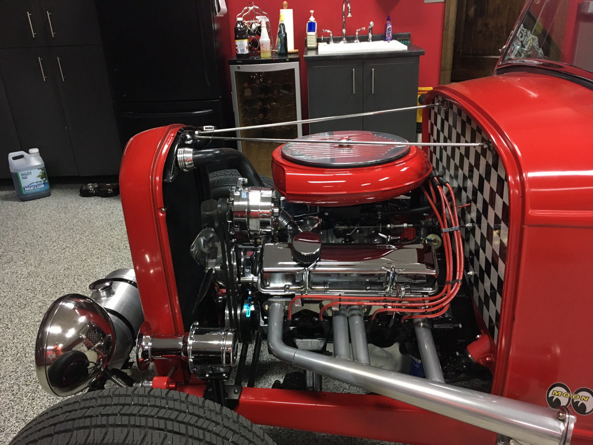 Custom '33 Ford Model A Engine Compartment Detail