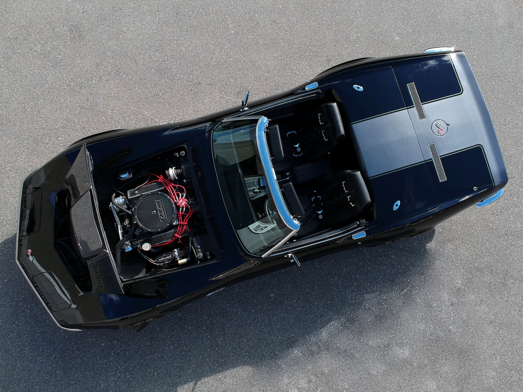 '69 Corvette Stingray Overhead Photo