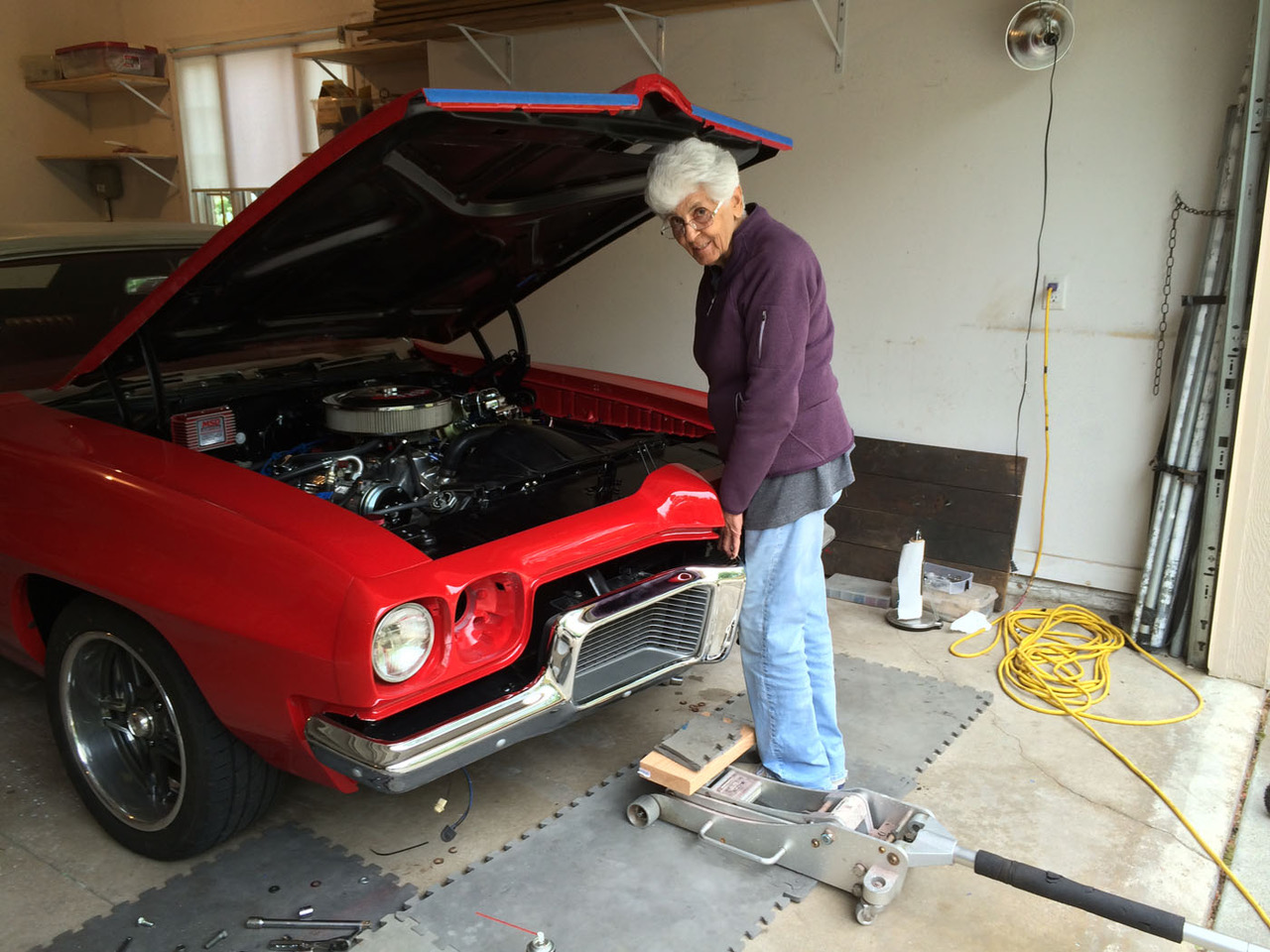Customer Rides 70 Pontiac Lemans With Sniper Efi 1972 Wiring Mom Giving Randy Some Installation Tips On Her