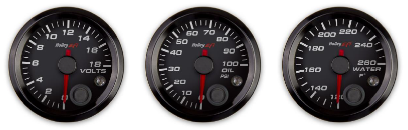 Holley EFI's new Analog Gauges Hit The Street!