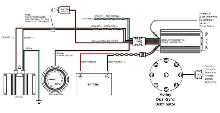 terminator ignition wiring with holley dual-sync distributor